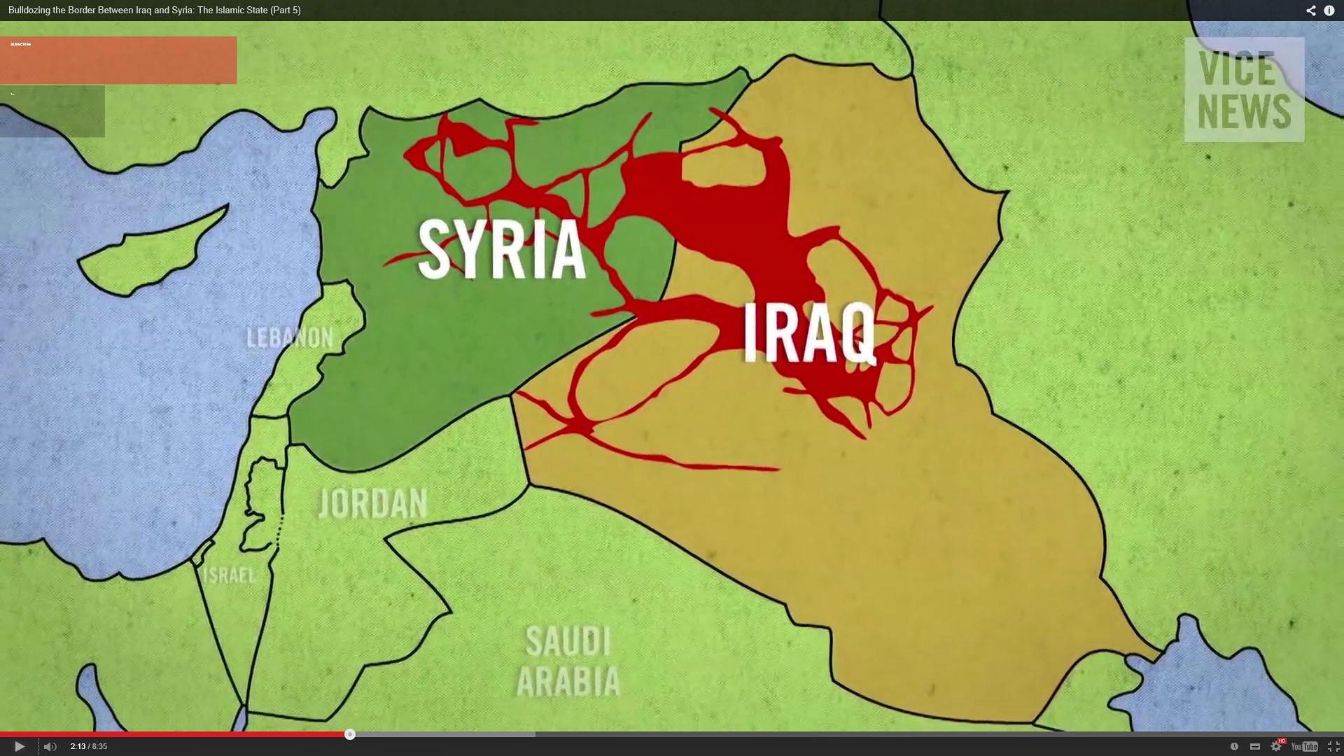 Image result for Iraq-Syria border CARTOON