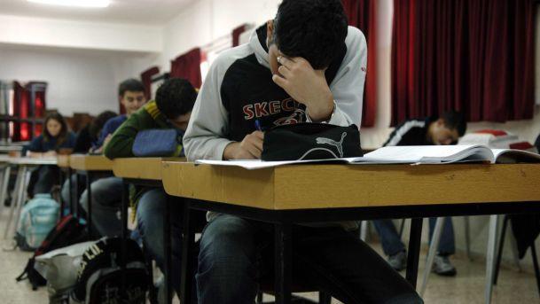 Students at an Arab high school in Haifa. Illustrative. (Credit: Haaretz / Yaron Kaminsky)
