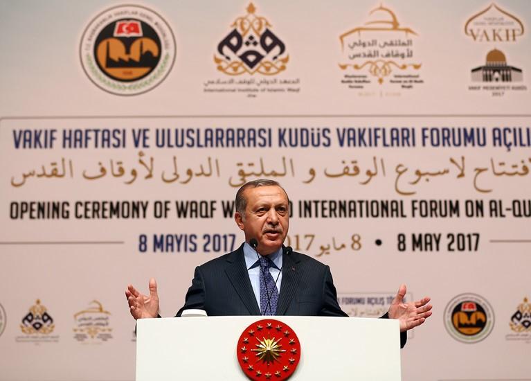 Turkish Recep Tayyip Erdoğan, 8 May 2017