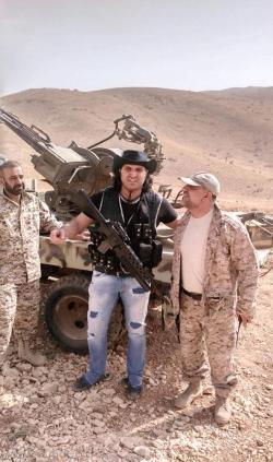 Noah Zeitar visiting Hezbollah positions in Syria
