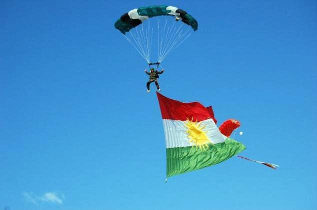 Kurdish flag. Credit: Jan Sefti, Flickr. CC by SA 2.0