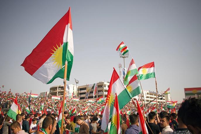 Kurdish flags. Illustrative.