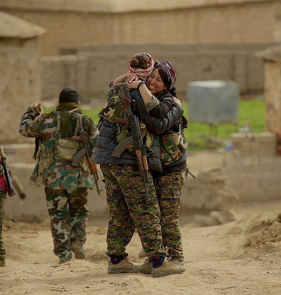 Kurdish YPG fighters, 2015