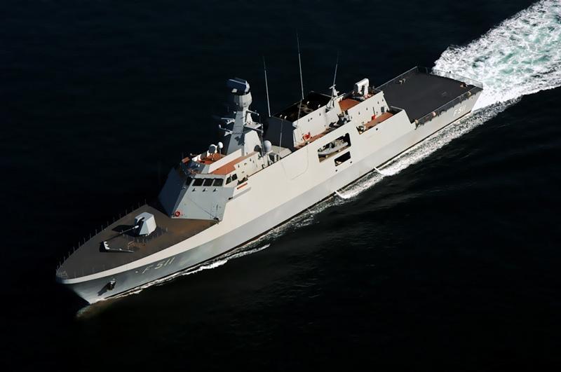 TCG Heybeliada at sea trials