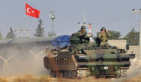 Turkish troops. Illustrative